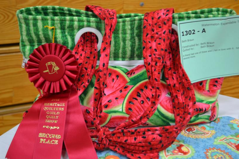Beth Braun Watermelon Expandable Tote